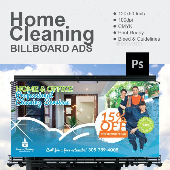 Home Cleaning Billboard
