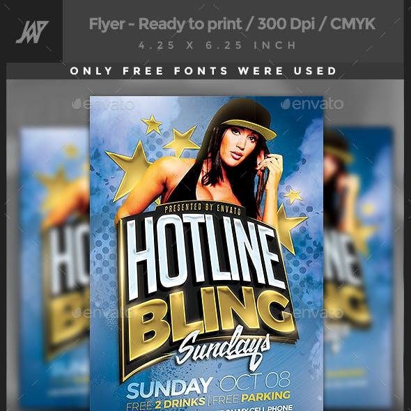 Hotline Bling Party Flyer