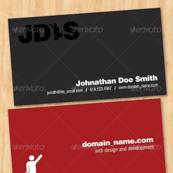 Minimal Freelancer Business Card
