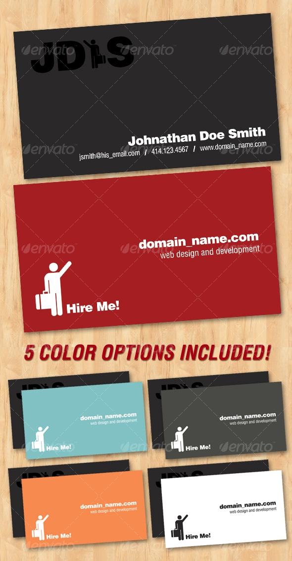 Minimal Freelancer Business Card - Corporate Business Cards