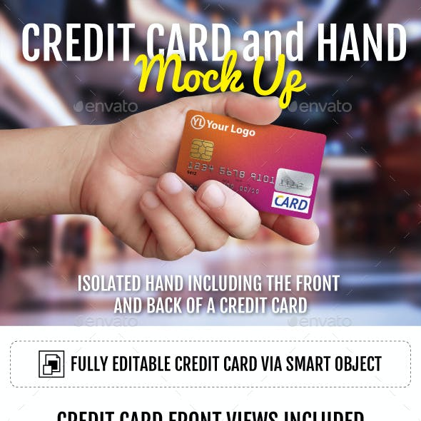 Credit Card and Hand Mockup