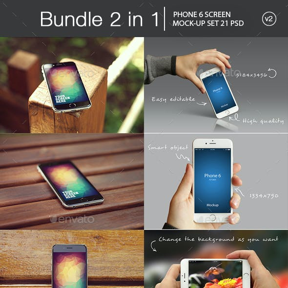 iPhone 6 Mockup Bundle 2 in 1 v2