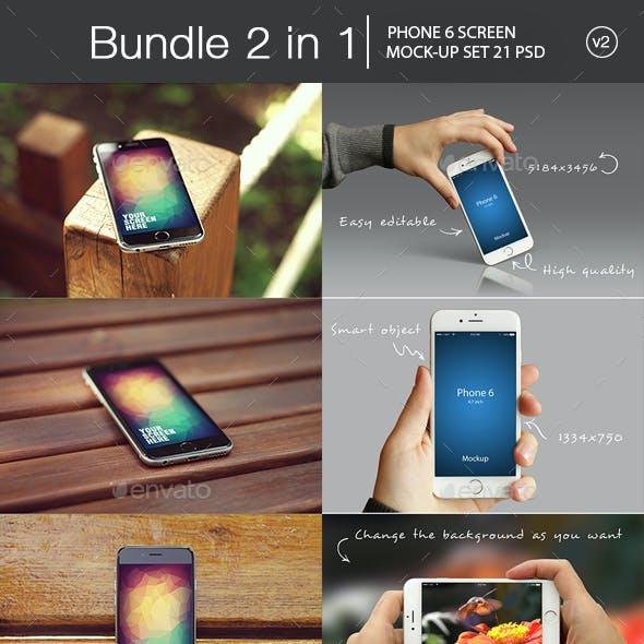 iPhone 6 Mockup Bundle 2 in 1 v2
