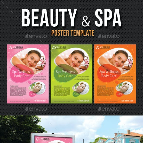 Beauty and Spa Poster Template V06