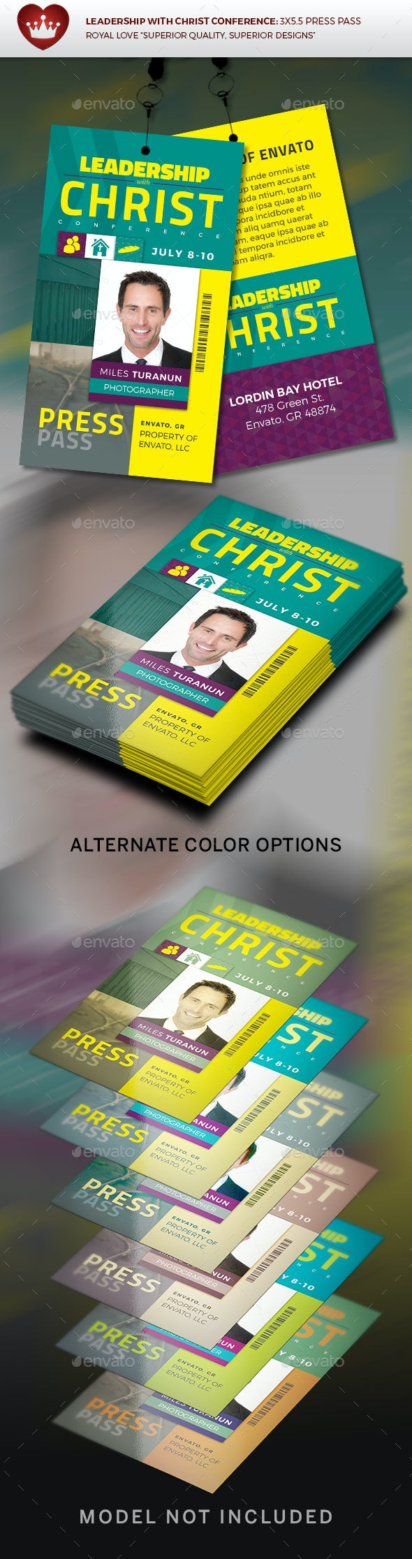 Leadership with Christ Conference Press Pass - Miscellaneous Events