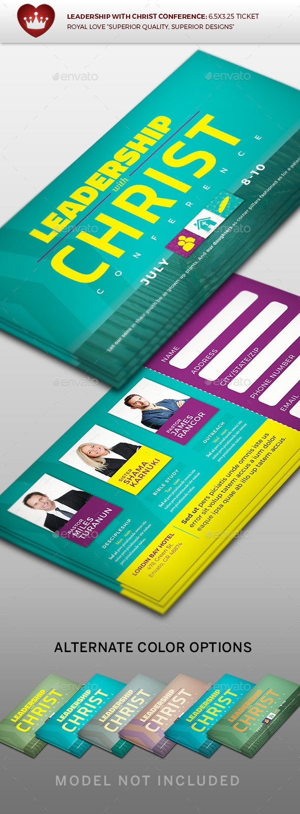 Leadership with Christ Registration Ticket - Miscellaneous Print Templates
