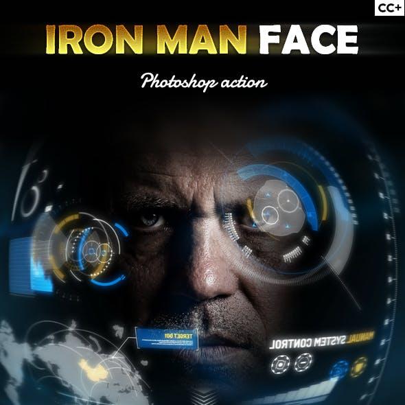 Iron Man Face Photoshop Action