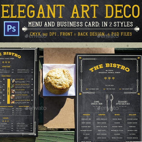 Elegant Art Deco Menu