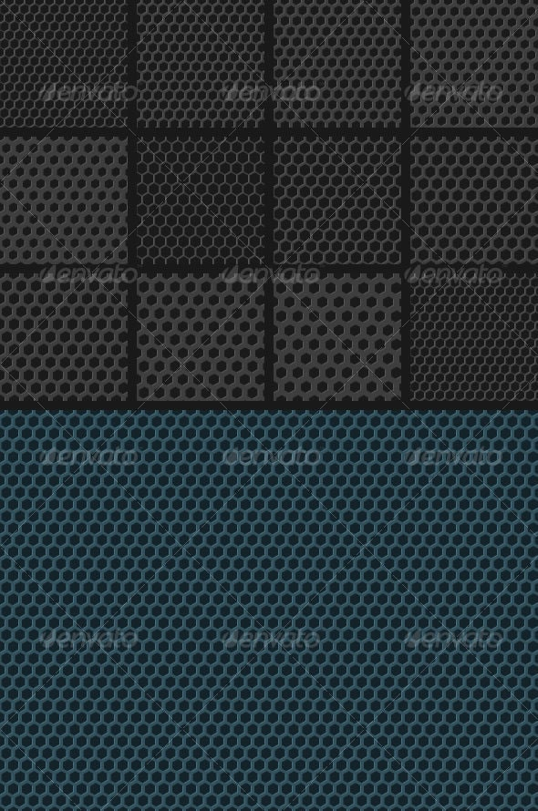 Carbon Fiber Hexagonal Grids Backgrounds - Patterns Backgrounds