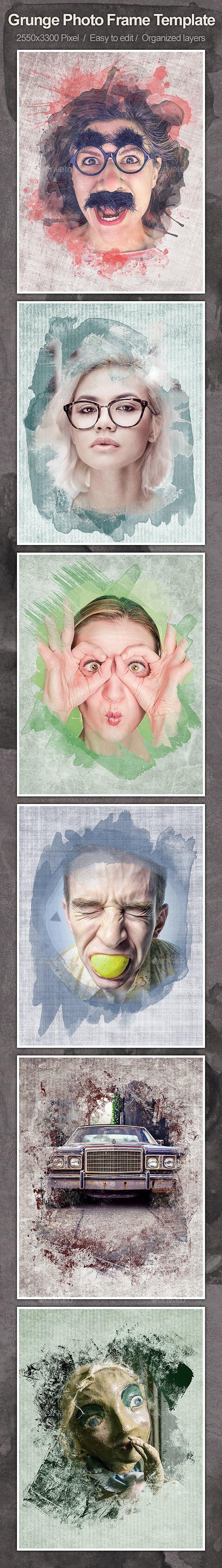 Grunge Photo Frame Template - Artistic Photo Templates