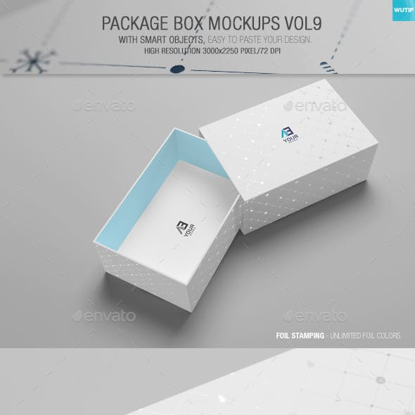 Package Box Mockups Vol9