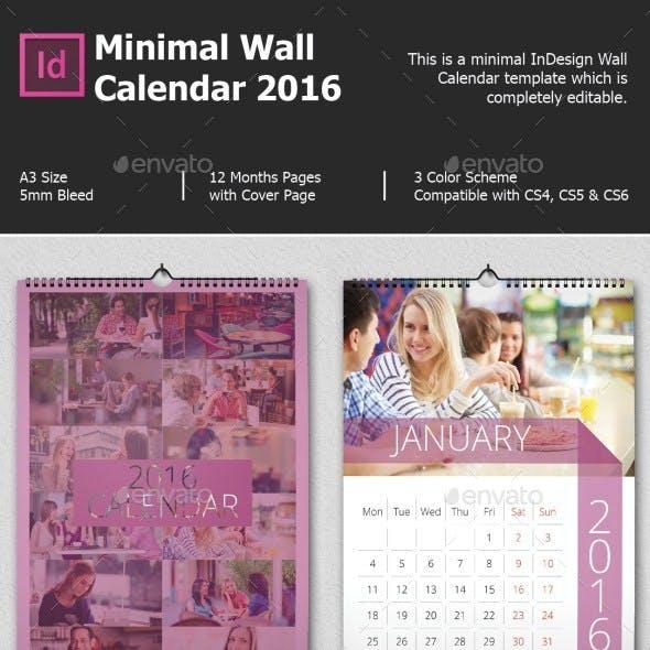 Minimal Wall Calendar 2017