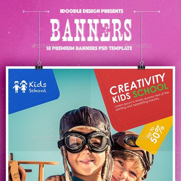 Kids Creative & School Banners Ad