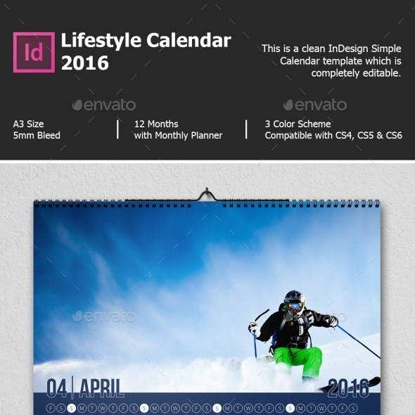 Lifestyle Calendar 2016