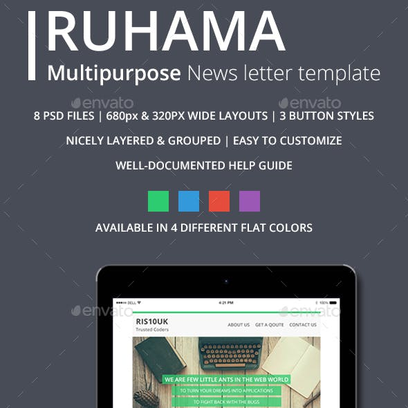Ruhama Multipurpose News letter template