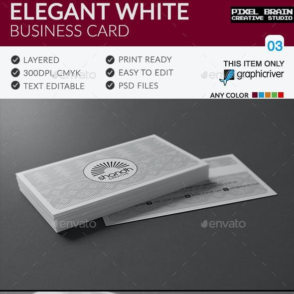 Elegant White Business Card