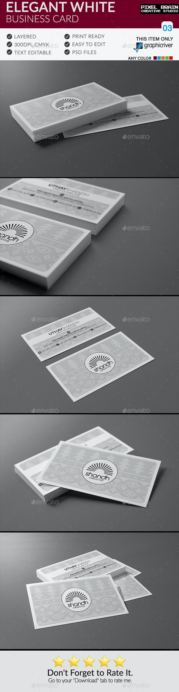 Elegant White Business Card - Corporate Business Cards