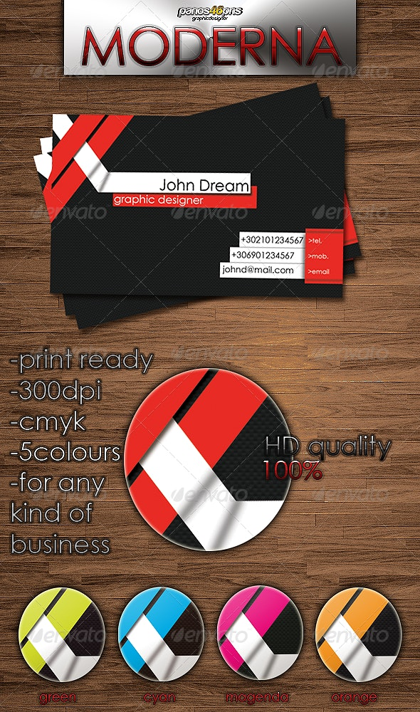 Moderna Business Card - Creative Business Cards