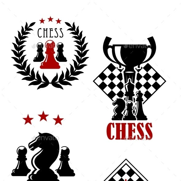 Chess Game Icons And Emblems