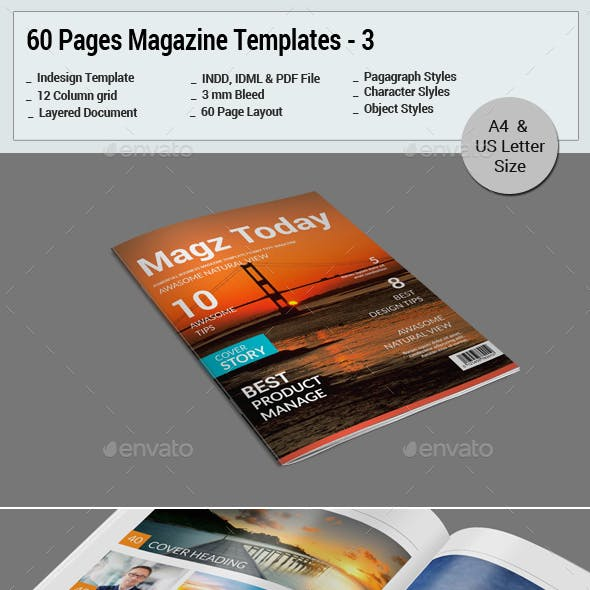 60 Pages Magazine Templates - 4