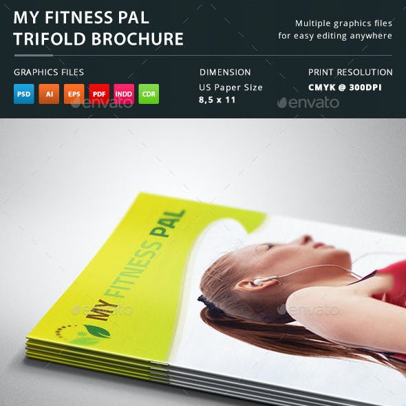 My Fitness Pal Trifold Brochure