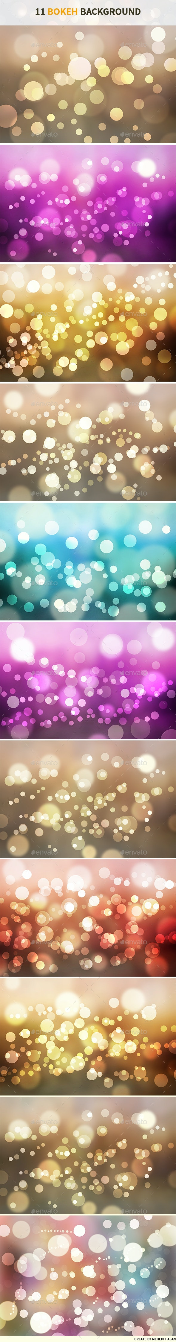 11 Bokeh Backgrounds - Abstract Backgrounds