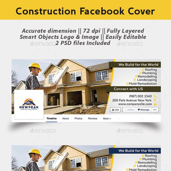 Construction Facebook Cover Page