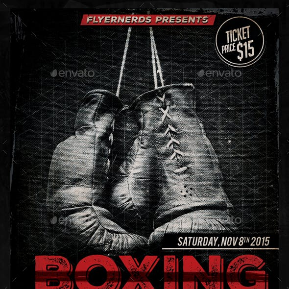 Boxing Fight 2015 Sports Flyer