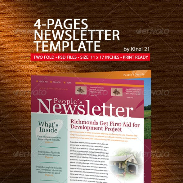 4-Pages Newsletter Template
