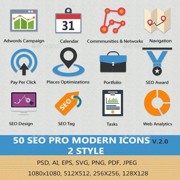 SEO Pro Modern Icons v2.0