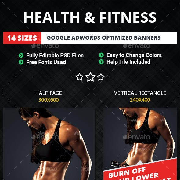Health & Fitness Web Banners