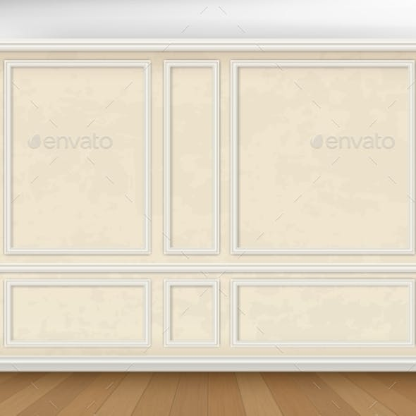 Wall Decorated Panel Mouldings in Classic Style