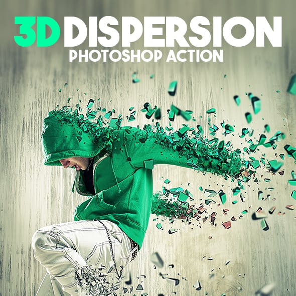 3D Dispersion Photoshop Action