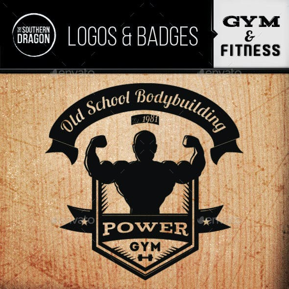 Gym and Fitness Logos & Badges.