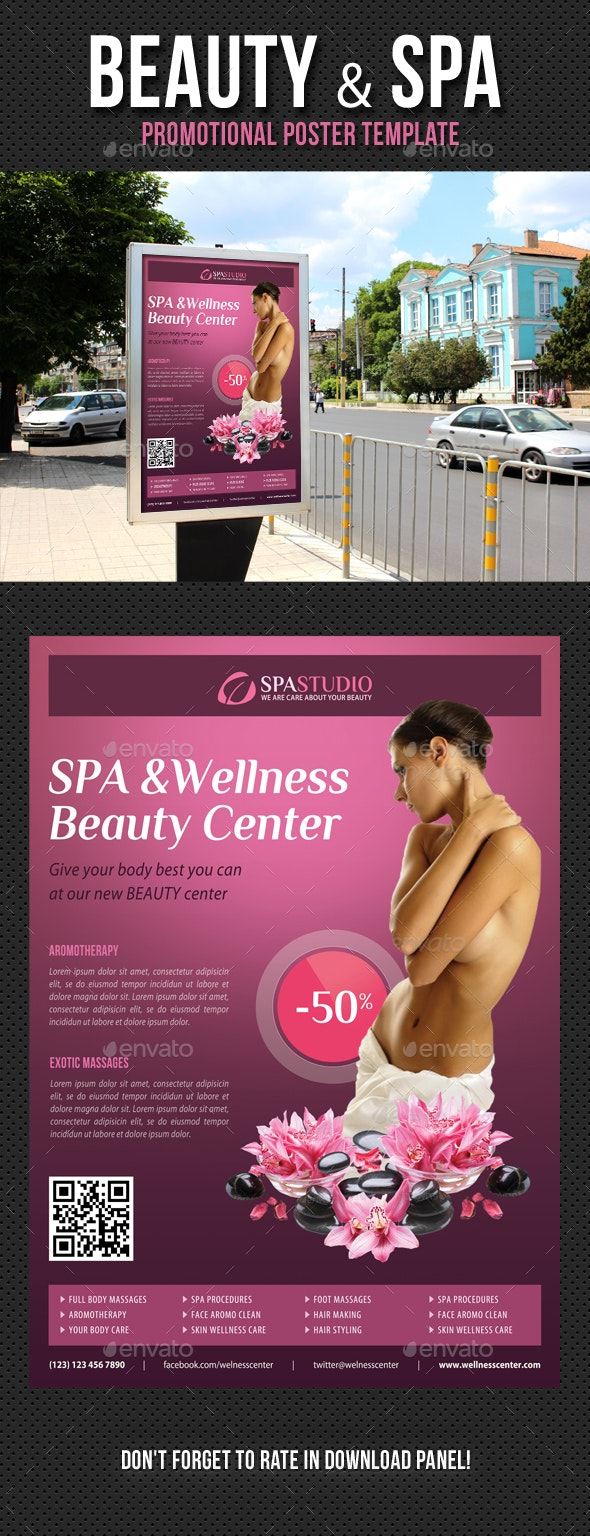 Beauty and Spa Poster Template V10
