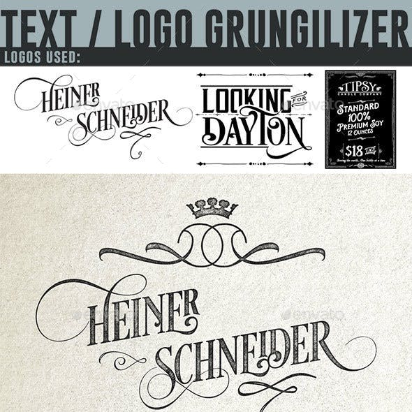 Text or Logo Grungilizer