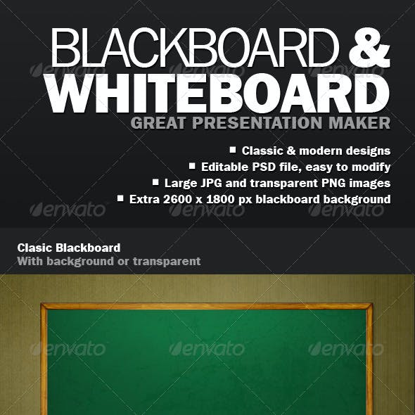 Blackboard Whiteboard Presentation Maker