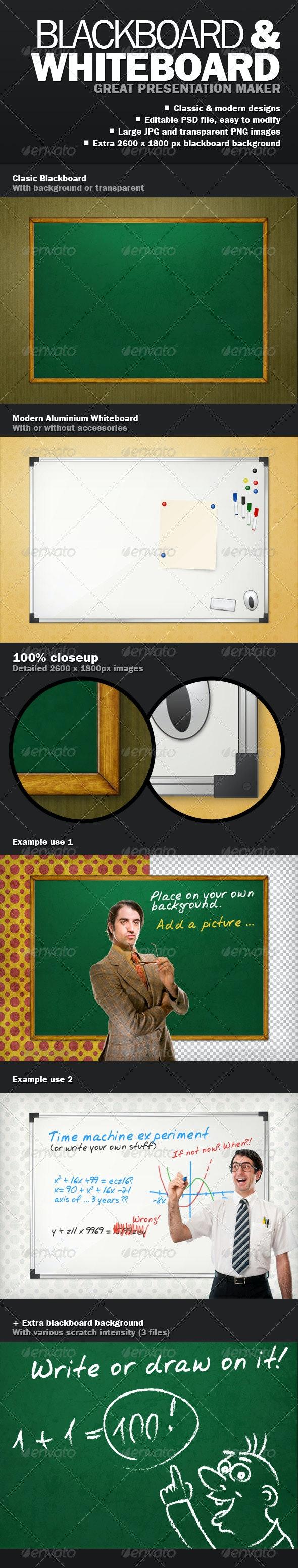 Blackboard Whiteboard Presentation Maker - Business Illustrations