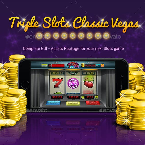 Triple slots classic vegas GUI Kit