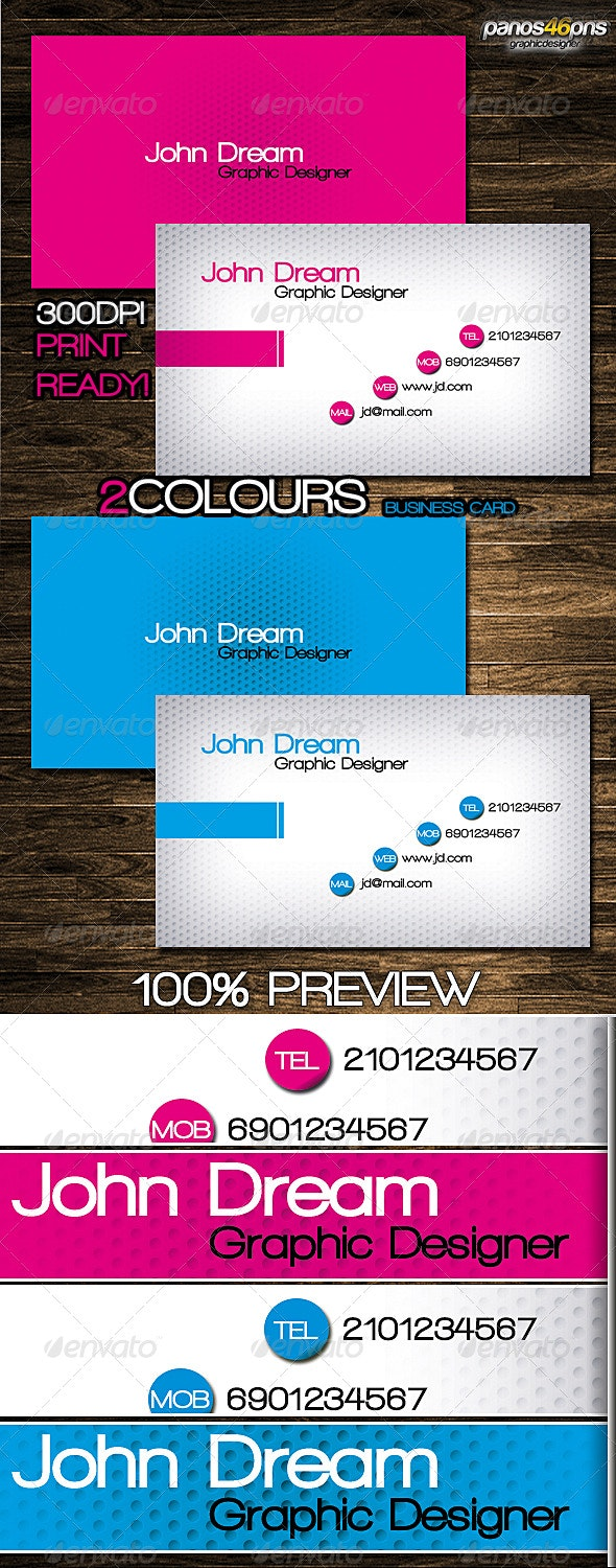 2Colours Business Card - Creative Business Cards
