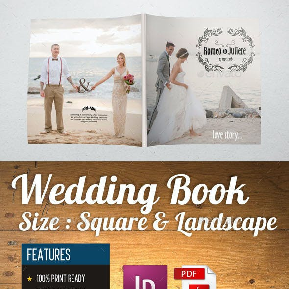 WEDDING BOOK 28 PAGE SQUARE & LANDSCAPE SIZE