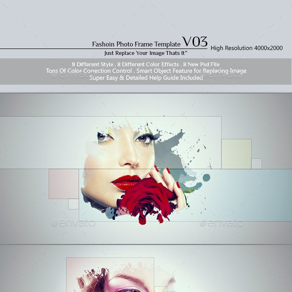 Fashion Photo Frame Template v03