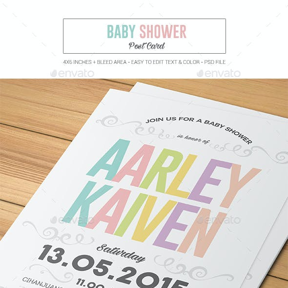 Baby Shower Post Card