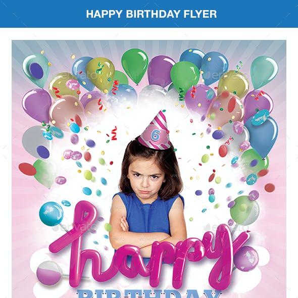 Happy Birthday Flyer Graphics Designs Templates