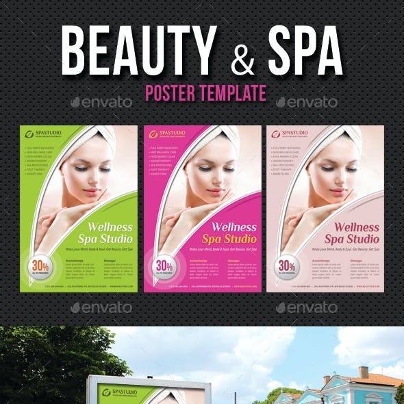Beauty and Spa Poster Template V14
