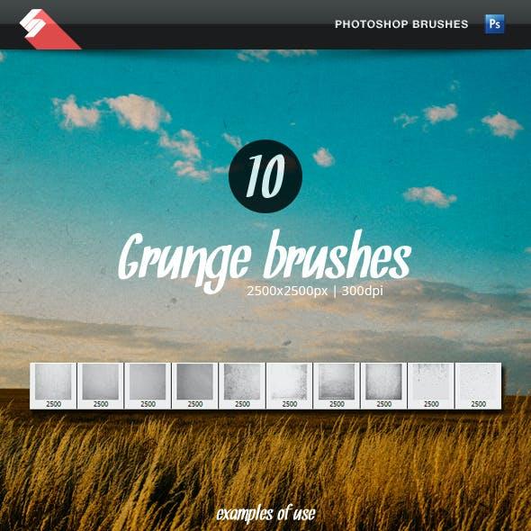 10 Grunge Overlay Brushes - Photoshop Brushes