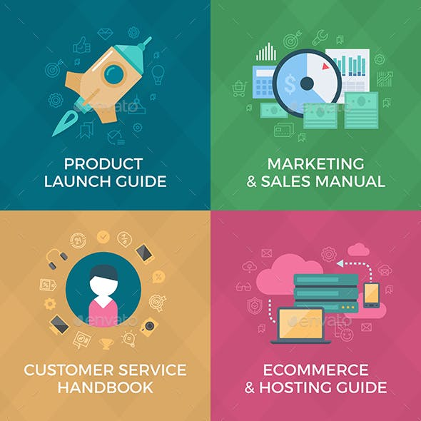 E-commerce and Marketing. Ebook Covers