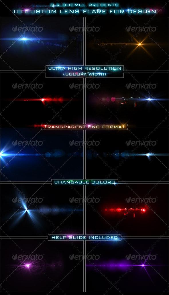 10 Custom Lens Flare for Design/Designer - Miscellaneous Graphics