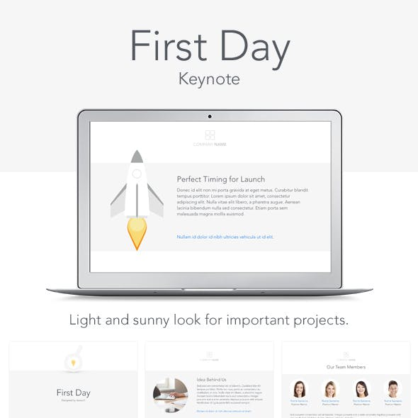 First Day Keynote Template