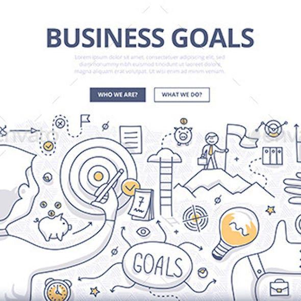 Business Goals Doodle Concept